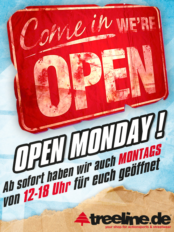 OPEN MONDAY - Flyer