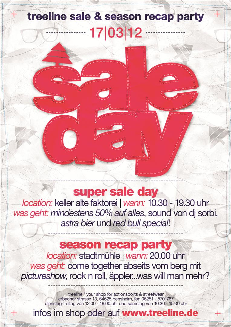 SALE DAY + Season Recab Party